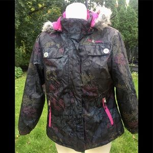 Girl's Free Country Gray Print Jacket